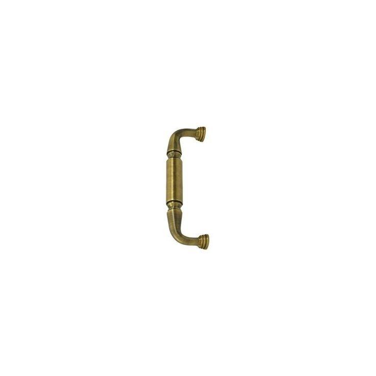"""Deltana DP2574 8"""" Solid Brass Door Pull Antique Brass Handleset Door Pull Handle"""