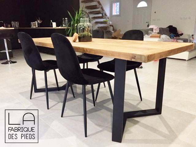 Pied De Table M La Fabrique Despieds Table Salle A Manger Salle A Manger Bois Table A Manger Style Industriel