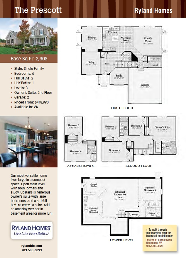Ryland Homes Floor Plans One Story Gurus Floor