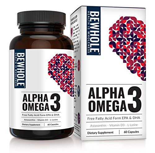 Alpha Omega 3: Free Fatty Acid Form Omega 3 EPA & DHA – 4.5 Times More Effective than Fish Oil – Contains Omega 3 EPA & DHA, Astaxanthin, L-Lysine, Vitamin D3 & Vitamin B12: Omega 3 EPA & DHA in the Form Your Body Loves /b /p Alpha Omega 3 is EPA & DHA in their perfect and fundamental Free Fatty Acid form. It is instantly absorbed by the body and has a 95% absorption rate. Its dissolvable form eliminates all of the stomach discomfort associated with Fish Oil. /p Benefits of Omega...
