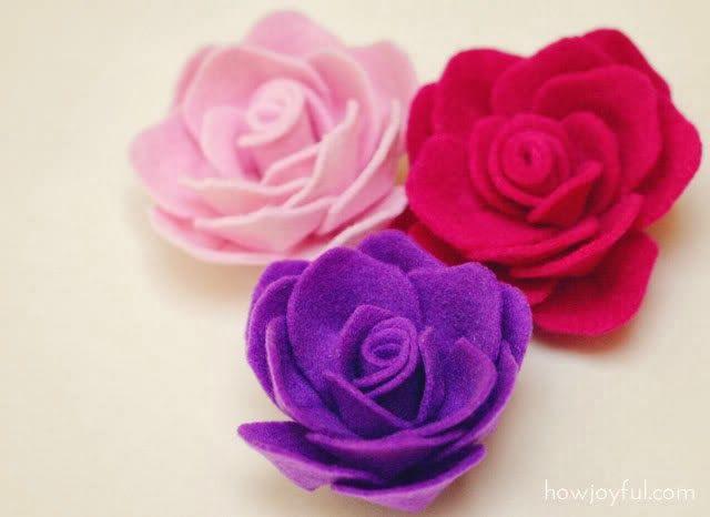 MiiMii - rękodzieło dla mamy i córki.: Jak zrobić różę z filcu - broszka krok po kroku.