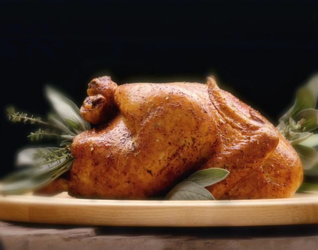 Roasting a turkey with butter-and-herb-soaked cheesecloth keeps it juicy and flavorful without basting