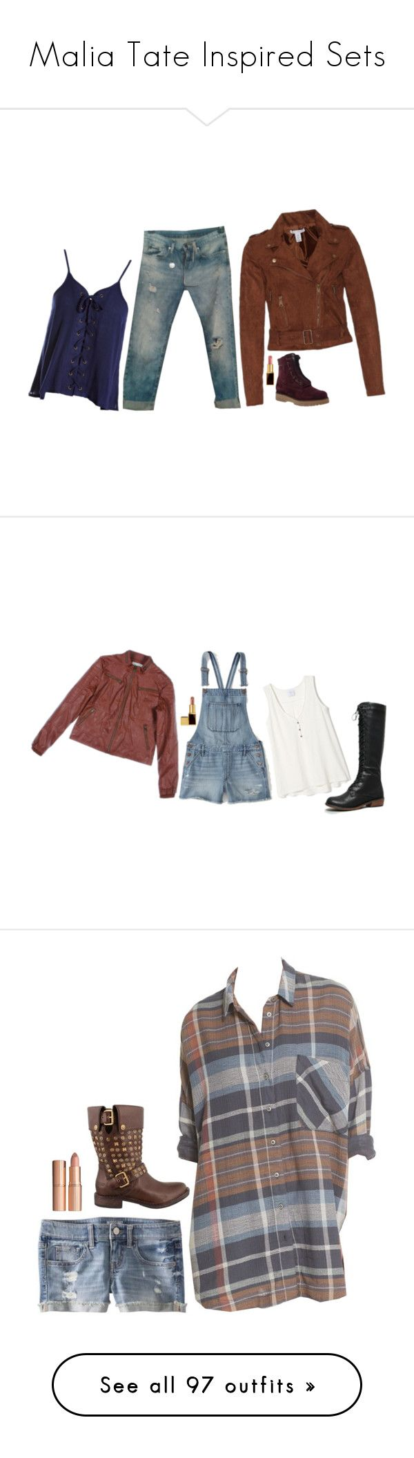 """""""Malia Tate Inspired Sets"""" by daniellakresovic ❤ liked on Polyvore featuring NLY Trend, Sans Souci, Manas, Tom Ford, Abercrombie & Fitch, Free People, Charlotte Tilbury, Chicnova Fashion, Hollister Co. and Frame"""
