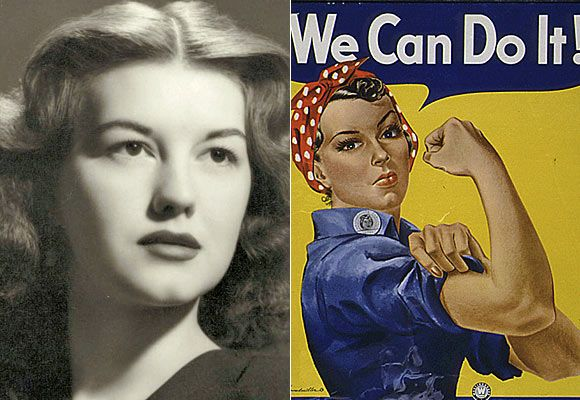 This is the original face of Rosie the Riveter