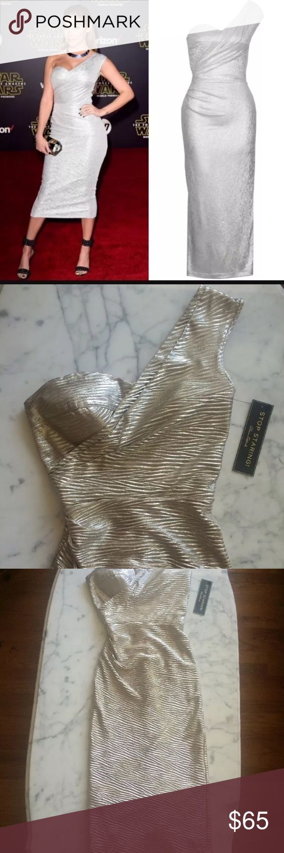 Silver Alexis dress s Advised for 34-26-37 by Size chart. New. Stop Staring Dresses One Shoulder