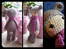 """Crochet 2 stitches together: Pattern Emmie Rainbow Bear, similar to laylalu saved under """"pats documents'"""