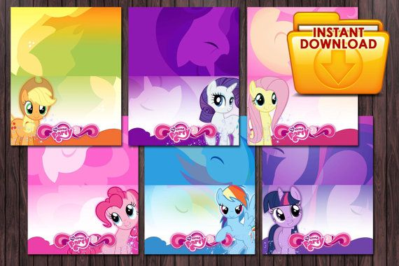 Printable Tent Card Tags My little pony MLP by ...