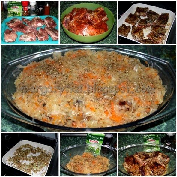 Kulinarne Szaleństwa Margarytki: Żeberka wieprzowe pieczone w kiszonej kapuście