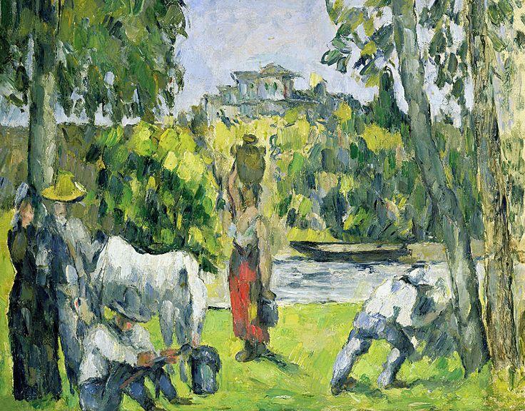 CEZANNE,1876-77 - La Vie des Champs : « Il y a de grands arbres, ils forment la voûte au-dessus de l'eau. […] Il vient vers le soir des vaches, qu'on mène paître. Il y a de quoi étudier et faire des tableaux en masse. Il est venu aussi des moutons boire, mais ça disparaît un peu rapidement. » (CEZANNE à son fils, Aix, 2 septembre 1906)