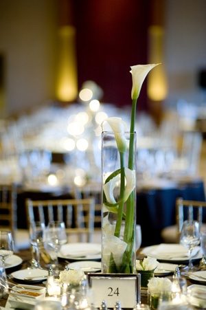 Tall Centerpiece with White calla lilly