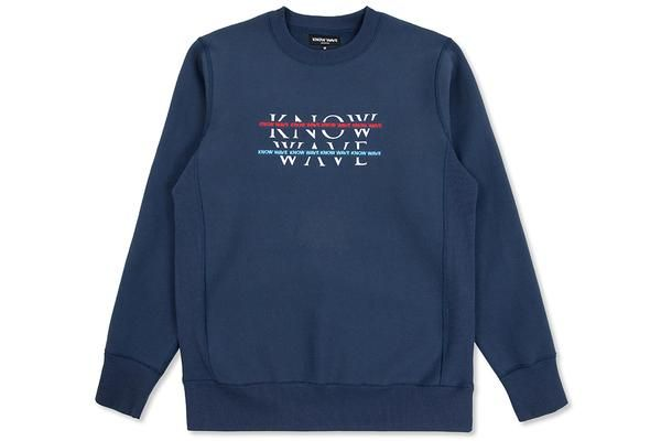Know Wave Over Under Crewneck - Navy – Feature Sneaker Boutique