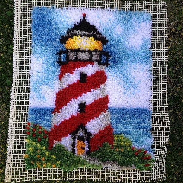 maybe take up latch hook? I love this lighthouse!