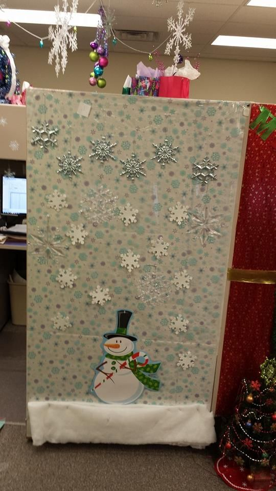 a christmas story cubicle decorations