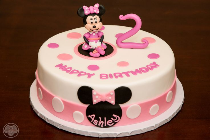Minnie Mouse Birthday Cake For Two Year Old Custom Cakes