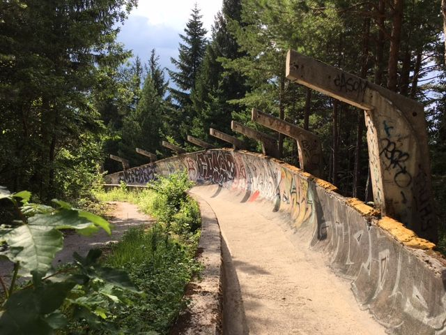 Athletes once competed in the luge and bobsled on this track in the hills above #Saraejvo. We discovered what it's been used for since.