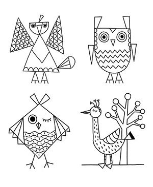 Bird Coloring Pages Fill These Cute Birds With Beautiful Colors Choose Your Favorite From