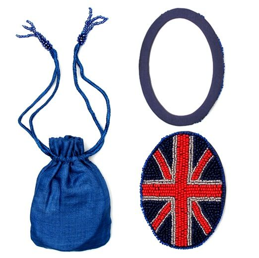 Handheld Union Jack Mirror in a Little Sac