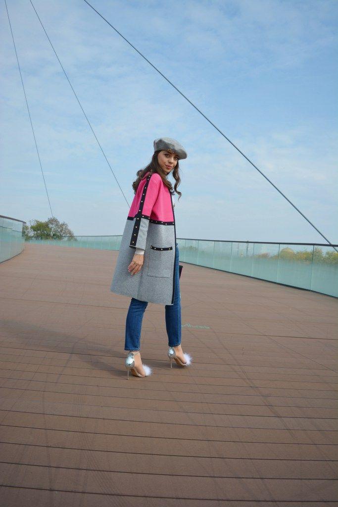 Zara French beret GCarol Long Cardigan Ilpasso Silver Flurry Sandals