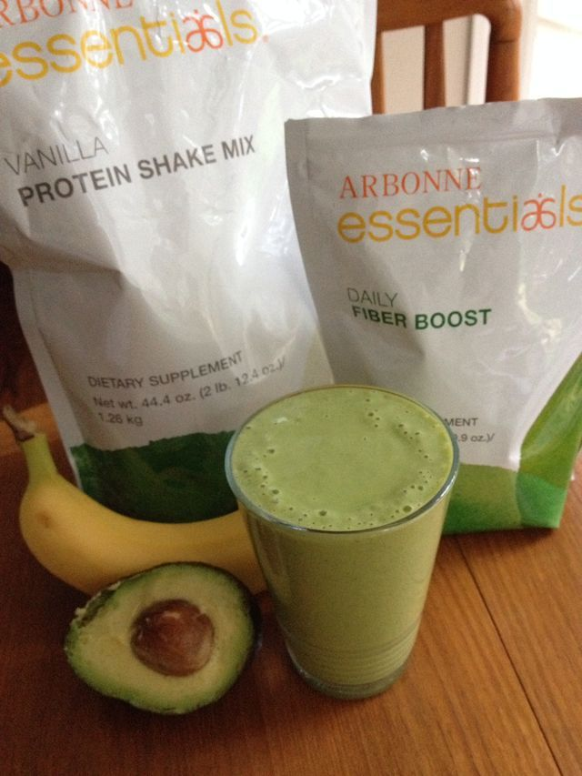 "Favorite new green smoothie recipe: 2 scoops Arbonne Vanilla Protein Powder, 1 scoop Arbonne Fiber Boost, 1/2 banana, 1 slice of avocado, 1 large handful of spinach, 7 oz almond milk. Mix all ingredients together and enjoy! ""Like"" my FB page at Surshae Arbonne Independent Consultant. Consultant ID 21565488"