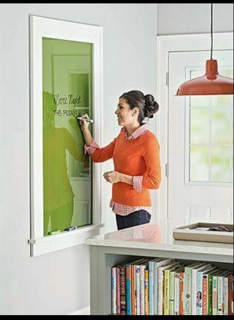 Paint the back of a glass and use it as a dry erase board.