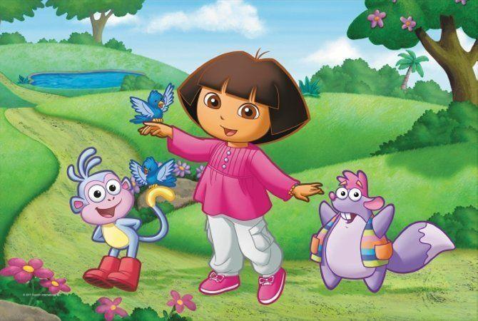 Dora poznaje świat - puzzle maxi, 20 elementów