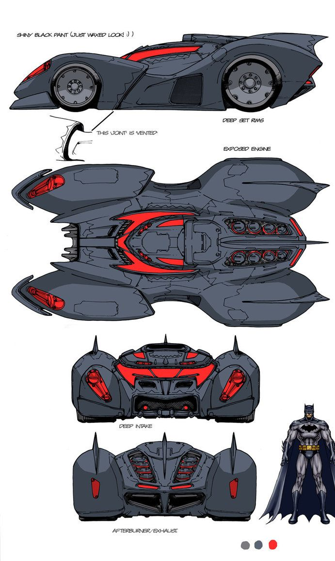 DCU MMO Batmobile design by *Chuckdee on deviantART