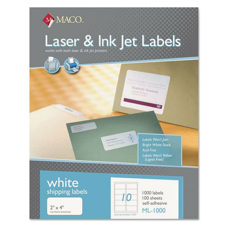 Maco Laser And Inkjet Labels Template The Best Professional Template In 2020 Inkjet Labels File Folder Labels Shipping Labels