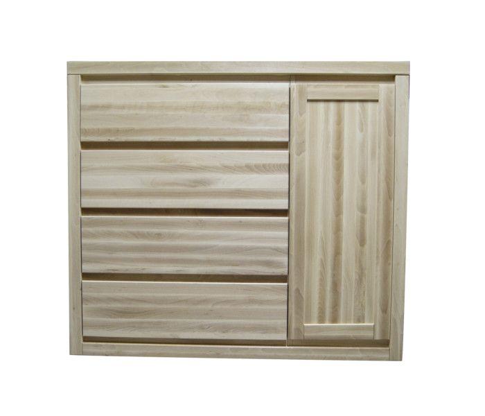 #komoda #buk Komoda bukowa [n44] Meble Drewniane - meble sosnowe producent, łóżka, komody, witryny