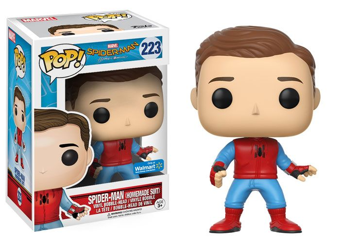 Spectacular SPIDER-MAN: HOMECOMING Funko Pop Exclusives Feature An Unmasked Peter Parker And More