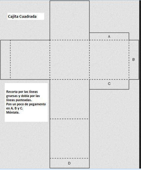 Moldes de cajas cuadradas con tapa - Imagui