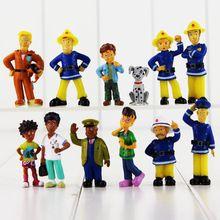 12 Stks/set Brandweerman Sam Action Figure Speelgoed 3-6.3 cm Leuke Cartoon PVC Poppen Voor Kinderen Verjaardagscadeau(China)