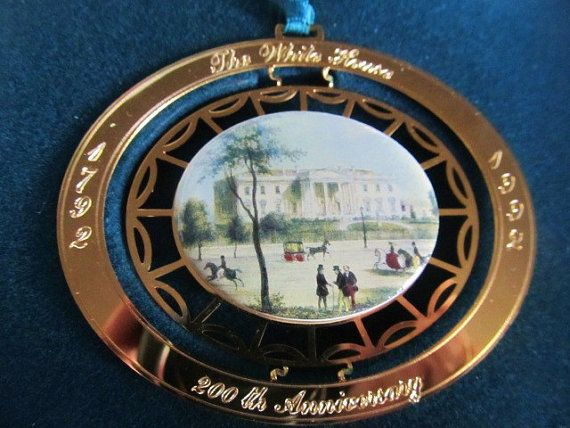 Vintage 1992 White House Christmas Ornament by AuntSuesVintage, $14.99