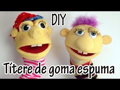 Manualidad: Títere de goma espuma - Manualidades para todos - YouTube