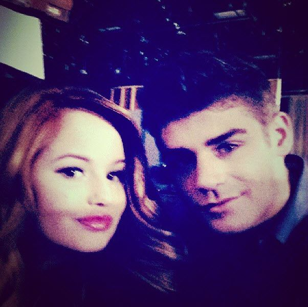 "Behind The Scenes Photo Of Garrett Clayton And Debby Ryan Working On ""Jessie"" October 27, 2013"
