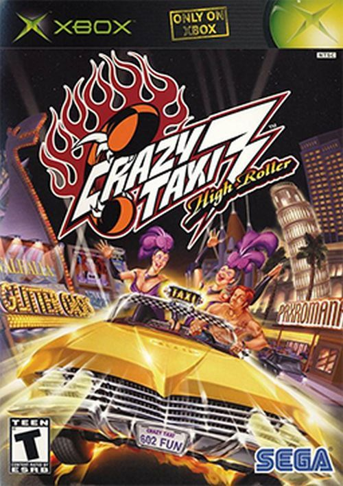 Crazy Taxi 3: High Roller (Microsoft Xbox, 2002) Complete
