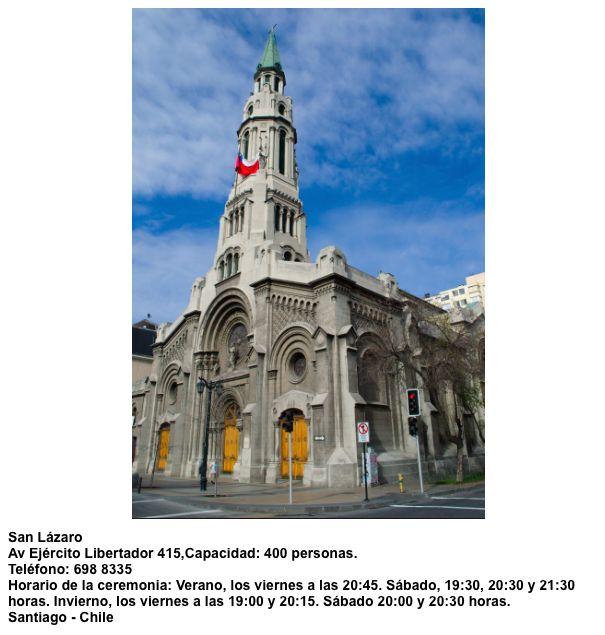 Iglesia San Lázaro  Av. Ejército Libertador 415 Santiago - Chile