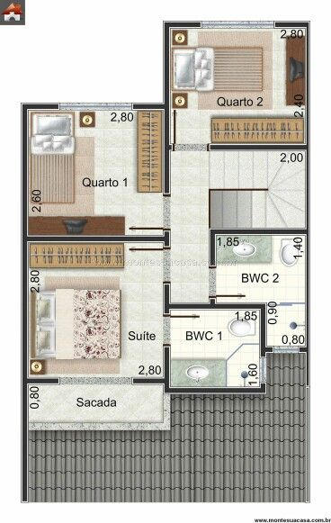 Casa De 1 Andar Com 3 Quartos Floor Org Amp Ides Em 2019
