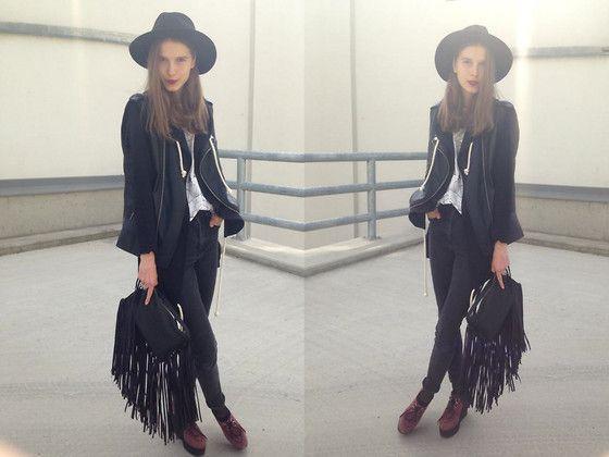 Pull & Bear Bag, Primark Jeans, Forever 21 Shoes, Zara Top, Zara Vest, H&M Hat