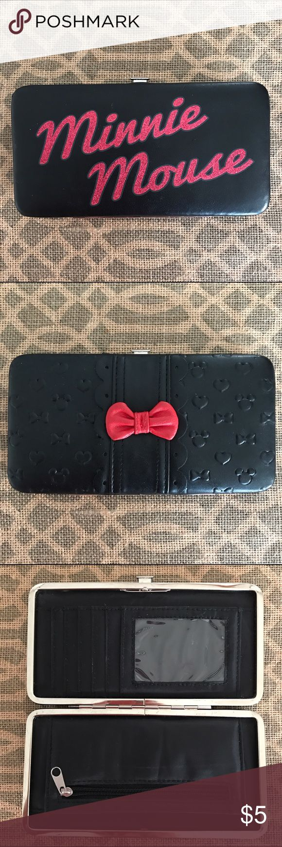 Minnie Mouse Wallet Super cute Minnie Mouse branded wallet. Pre-loved but still good condition. ❤️ Bags Wallets