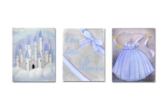 Princess Wall Art Castle Dress Baby Girl Nursery Our