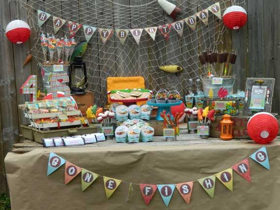 17 best images about boy 39 s fishing birthday party on for Fishing themed birthday