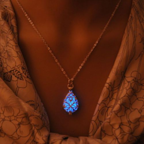 Glowing stone necklace