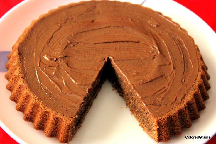 Spice infused nutella coated chocolate cake