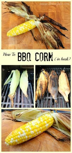 Forget finding a large pot to boil corn, here is the secret to BBQ Corn in the husk!! This is a super simple way to make BBQ Corn that works every time!