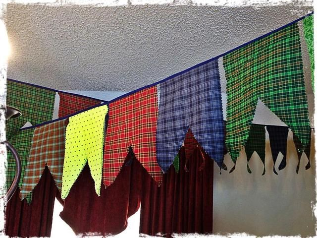 Banner at a Brave Party #braveparty #banner #tartan