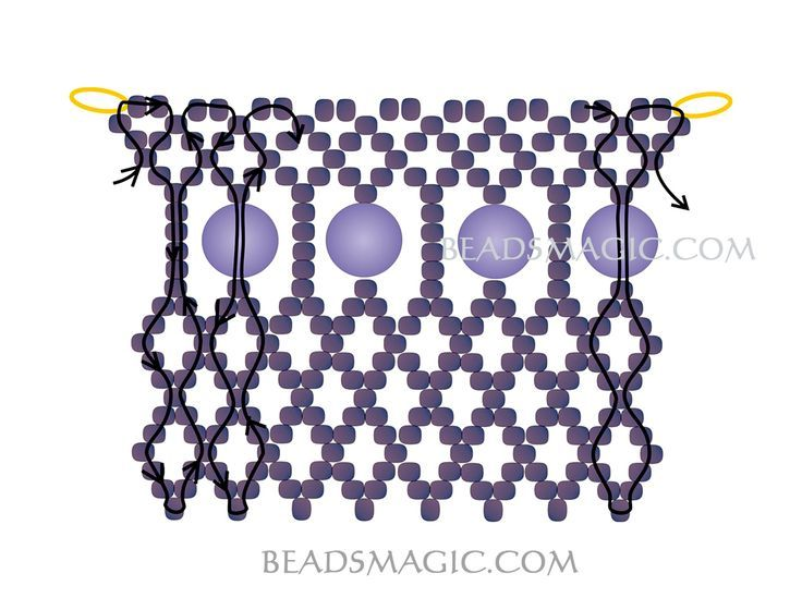 Best Seed Bead Jewelry  2017  Free pattern for necklace Opium  Seed Bead Tutorials