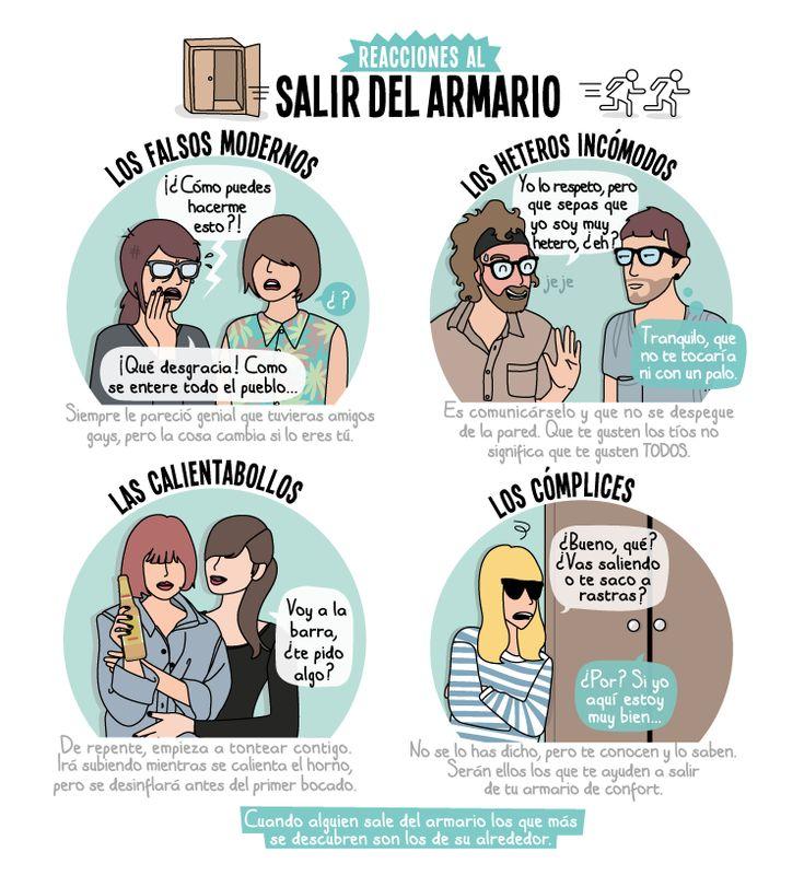 B1/C2 - Reacciones al salir del armario, ¿qué te parece? De Raquel Córcoles, autora de Moderna de Pueblo y El Cooltureta.
