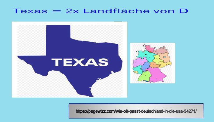 Der US-Bundesstaat Texas ist allein schon 2x so groß wie Deutschland. Und es gibt noch weitere interessante Vergleiche. Artikel: https://pagewizz.com/wie-oft-passt-deutschland-in-die-usa-34271/