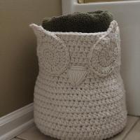 Crocheting : Crochet Owl Basket