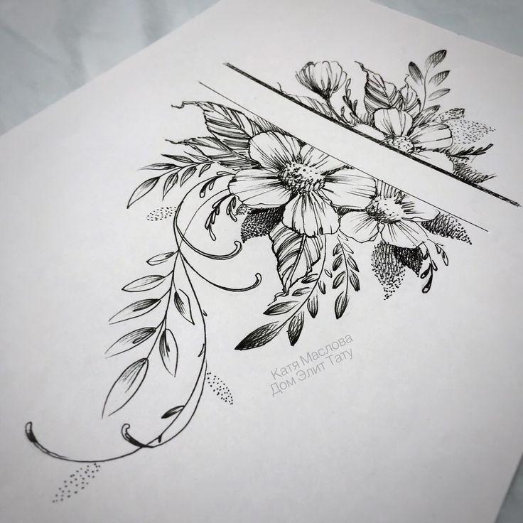 45+ charming and irresistible rib tattoo designs; Simple tattoo; Flowers Tatto … #tattoos